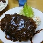 味一 - とんかつ ダブル 定食 (ライス・味噌汁付) 1600円