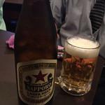 プリンス - 2015年7月。一日目。瓶ビールは赤星。