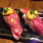 Wasshoidokorowaku - いちぼにぎり寿司(海胆のせ)