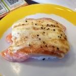 元気寿司 - サーモンペッパー炙り