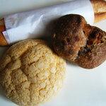 ベッカライ 徳多朗 - 栗のパン、メロンパン、ミルクフランス