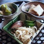 日本料理 宮本 - お惣菜と香の物(昼膳・懐石)