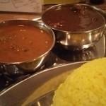 カレーの文化屋食堂 - 日替わりビーンズカレーとチキンカレー