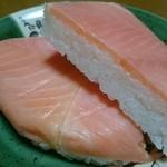 味の笹義 - 鱒と寿司飯の状態