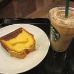 スターバックス・コーヒー - Coffee & Espresso ケーキ クレームブリュレ、アイスカフェラテ