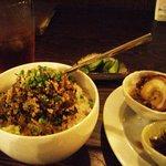 リトルスターレストラン - そぼろ丼と三色盛り