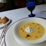 JOY味村 - カボチャの冷製スープ。