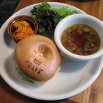 ザグレイビー - BAGEL SAND≪サラダ・soup付≫(税別\850、2015年5月)