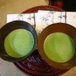 休耕庵 竹の庭の茶席 - 抹茶と落雁