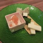 地菜和食 庵 - チーズ3種盛り合わせ