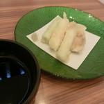 地菜和食 庵 - 大山どりと弓ヶ浜ネギの天ぷら