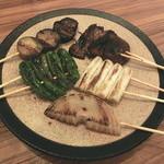 地菜和食 庵 - 野菜5串盛合せ