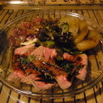 39605406 - 前菜3種盛り(カツオ、ローストビーフ、酢たまねぎ)