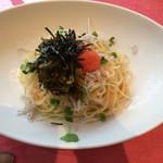 パスタフローラ  - 高菜と明太子の冷製梅ソース