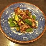 中国料理 伊部 - 蛸とオクラのXO醬和え                             1200円