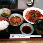 翠苑 - 2010/04/30 スタミナ定食はホルモン系ディッシュ¥950