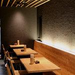 萩の茶屋 - おしゃれな空間のテーブル席
