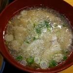 和来 - ランチの汁は豚汁❤