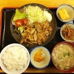 和来 - ランチの生姜焼き定食❤