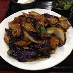 上海亭 - 茄子にくみそ炒め Bランチ