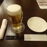 美食小屋 - 生ビール:200円