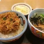 どんきゅう - かき揚げ小丼セット650円