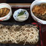 花村 - 志の田そば+半天丼(980円)