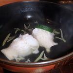 千翠 - 鱧とじゅんさいの椀