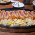 えんざ - 「ミディアムレアで揚げる牛サーロインカツ」(2015.Jul.)