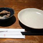 えんざ - お通し「さわらの生姜煮」(2015.Jul.)