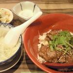 利久 - 牛たん丼定食 ¥1404