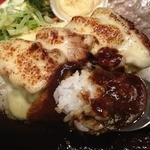 Cafe 婆沙羅 うさぎ堂 - とんチーカレープレート(1080円)アップ
