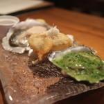 ビストロ ハッチ - 生ガキ、フリットかき、ムニエル牡蠣