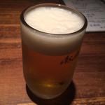 中華キッチン彩家 - まずはビール!