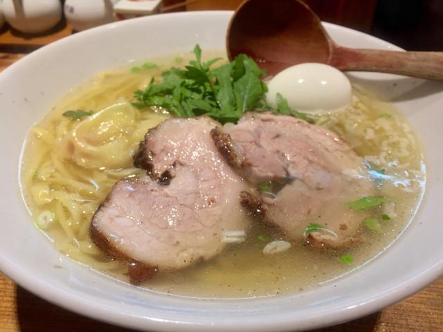本丸亭 鶴屋町店 - 塩煮玉子トッピング