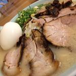 珍竜軒下関本店 - チャーシュー麺、大盛り、半熟卵トッピ