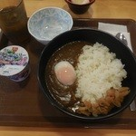 すき家 - 朝カレーヨーグルトセット¥370-