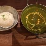 ナンタラ - ほうれん草ベース 野菜カレー