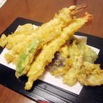 萬常 - 天ぷら定食(1600円税込)の天ぷら