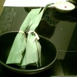 竹なか - デザート笹葛餅