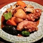 39632373 - ヘルシーチキンと野菜の黒酢あん定食