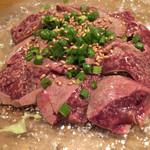 39634511 - レバーのカルパッチョ。トロトロでレア感が、野菜とのシャキシャキ感も相まって、堪らぬ美味しさです。