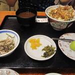 いちごや - かき揚げ丼ランチ      1180円