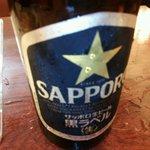 39644047 - 瓶ビールはサッポロ黒ラベル