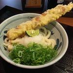 香の川製麺 - おろし醤油 (並:370円) +ちくわ天ぷら (130円)