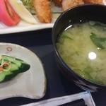 ほまれ菜食堂 - 漬物と味噌汁