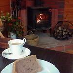 Chiffon Cafe Soie - 2011/1 ランチセットのシフォン、チョコシフォンと薪ストーブ