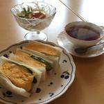tea room ALICE - モーニングのたまごサンド580円