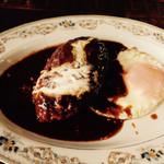 ソウルフードカフェ カモメ - デミグラスソースが絶妙で溢れる肉汁と絡みます by鹿っちゅん