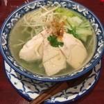 風龍 - 選べる麺と油淋鶏セットの蒸し鶏と葱の上海翡翠麺